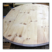 Unfinished White Pine Table Top