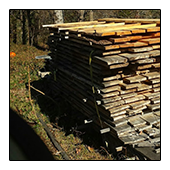 Sustainable Lumber is stacked and continues to Dry