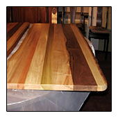 Accentuated White Oak Poplar Walnut Cherry Table Top